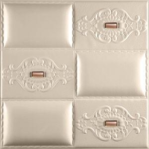 Painel de parede de couro 1087-2 para decoração de paredes 3D Painel de parede