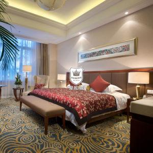 4 نجم فندق أثاث لازم ماهوغانيّ ملك غرفة نوم مجموعة لأنّ ضيفة