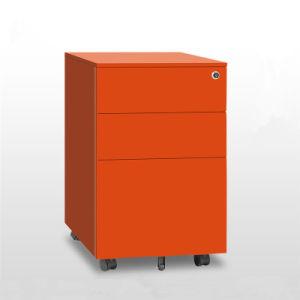 3개의 서랍 사무실 금속 이동할 수 있는 주춧대 파일 캐비넷