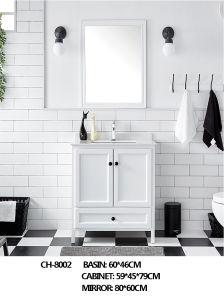 Amerikanischer Art-bester Verkaufs-stehende sich hin- und herbewegende quadratische Badezimmer-Eitelkeits-Möbel