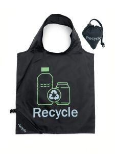Складывание RPET сувениры с Основным стилем и шелк печать в любви форму Bag Многоразовый мешок для покупок, дружественность к сумке, Складная сумка