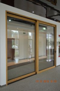 Новая конструкция из алюминия клад дерева опускное стекло двери
