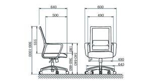 Mobiliario de oficina, duradera Mesh personal de la silla de oficina con Base de Acero cromo-M9024 (LSM)