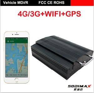 China 4 Channel 4D1 3G Realtime WiFi GPS Car Bus Truck Mobile DVR Factory