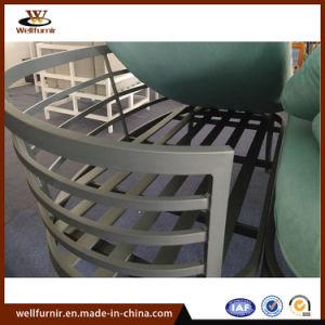 Mobiliário de alumínio para exterior Sofá estar profundo Sofá curvo e a tabela de Ajuste da Almofada com
