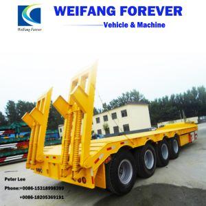 40トン60トン80トン半重い機械運送者の低いベッドのトレーラー