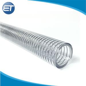 Tubo flessibile di rinforzo trasparente del tubo del filo di acciaio della molla del PVC del commestibile