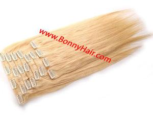 Soie 10 pièces droites/Set #613 100 % de l'homme brésilien Remy Hair Clip sur l'extension de cheveux