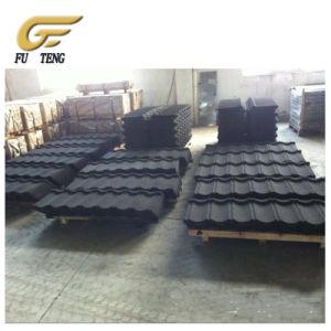 Les tuiles colorées de gros de la pierre d'usine en acier recouvert de tuiles de toiture
