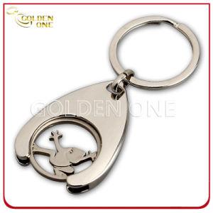 Moneta Polished Keychain del carrello di acquisto del metallo dell'indennità su ordinazione