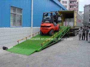 Подвижные 8t гидравлический контейнер dock с плавным регулированием скорости для погрузчика с маркировкой CE