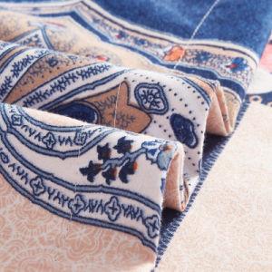 Diseño de lujo de pantalla plana 3D de poliéster impresión edredón Edredón ropa de cama