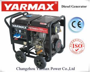 Estrutura Aberta Yarmax monofásico 6 kVA um conjunto de gerador diesel gerador eléctrico