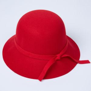 Senhora grossista Lã Fedora grande chapéu de feltro a bordo rasante