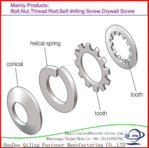 Pouce de rondelles plates de la rondelle DIN125