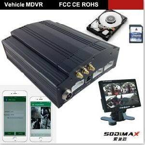 8 Channel 3G and GPS Mobile DVR with Free Cms Software
