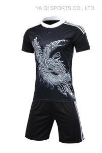 Malla de poliéster 100% sin marca de tela jersey de fútbol soccer Jersey  uniformes de fútbol propio diseño personalizado ea2e5bdc8946d