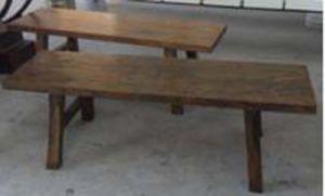 中国の時代物の家具のニレ木ベンチ