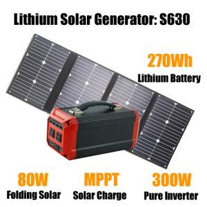 Мини переносные солнечные энергетические системы станции мощности генератора 300W
