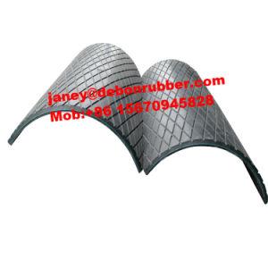 優秀な品質のコンベヤーシュートの陶磁器のゴム製摩耗のライニング