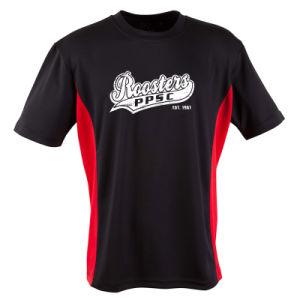 찍힌 고성능 훈련 Cooldry 적당한 메시 옥외 작업 t-셔츠