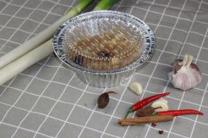 750 ml d'aliments ronds en aluminium à usage unique contenant des récipients alimentaires