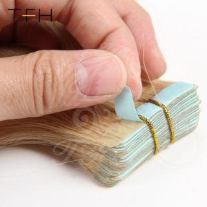 Uitbreidingen 14 van het Haar Remy van Tfh 2.5g Rechte  Haar van Band 16  18  20  22  24  26  het Machine Gemaakte Remy 100% Band van de Uitbreidingen 20PCS/Pack van het Menselijke Haar in de Inslag van de Huid van het Haar