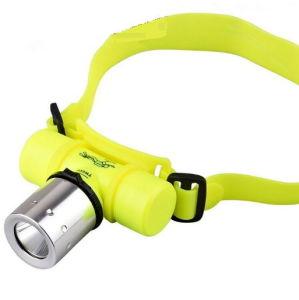 T6 재충전용 물속에 잠긴 자석 스위치 LED Headlamp