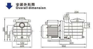 承認されるセリウムが付いているプールポンプ(SMP35)
