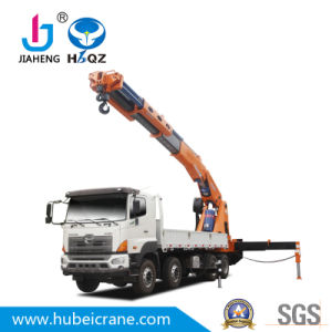 Fábrica de aguilón articulado alimentación HBQZ Camión grúa de 80 toneladas SQ1600ZB6 grúa sobre camión articulado
