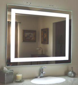 5 mm de marcação/montado na parede com certificação UL Hotel Casa de banho com espelho iluminado desembaciador de LED