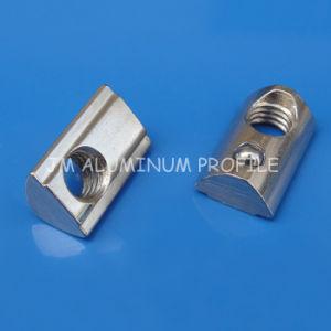 A porca redonda meia Porca T / Roll na porca de slot em T para os perfis de alumínio