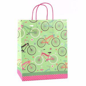 Горизонтальные полосатый красочные одежды игрушки украшения подарочные бумажные пакеты