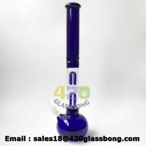 Zylinder-Eis-Rohr-Glasglaswasser-Pfeife des Flammen-erstklassiges Doppelt-4-Arms Perc