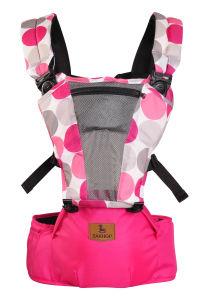 Venda por grosso de poliéster multifuncional de alta qualidade padrão circular Rosa transportadora do bebé