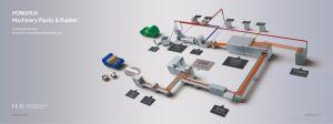 extrudeuse à double vis PET pour les boîtes (DTC-800)