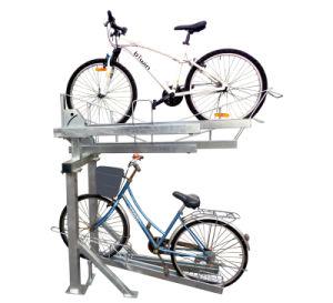 屋内および屋外の二重デッカーの自転車ラック