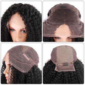 Afro-verworrene Menschenhaar-Spitze-Vorderseite-Perücke-Menschenhaar-Perücke 100%