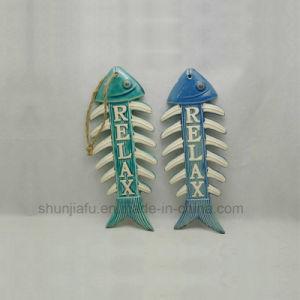 Het ceramische DiepzeeOrnament van het Meubilair van de Tegenhanger van Vissen