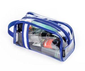 透過旅行洗面用品袋PVC化粧品および洗面用品のオルガナイザー袋