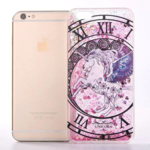 Líquido Celular Glitter arenas movedizas caso para el iPhone 6 6plus
