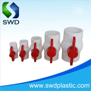 PVCプラスチックコンパクトな球弁の工場白カラー