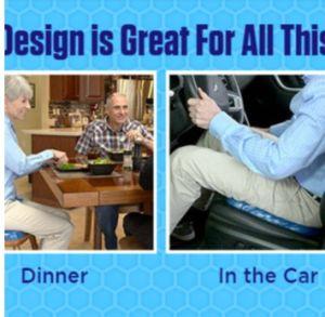 Huevo Gel Gel canguro coche Cojín de asiento para automóvil utilizado en cualquier lugar!
