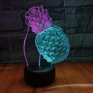 子供USBの机のための多色刷りの変更の錯覚3 LED夜ライト3D視覚LED夜ライト3D夜ランプ