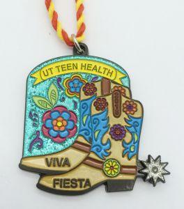 Medaglia in lega di zinco all'ingrosso del premio dell'oro/argento dell'OEM per i randelli della polizia/la festa/ricordo dell'adolescente