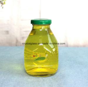 16oz passen quadratische Getränkeflaschenglas-Flasche für Saft-Kaffee und Milch an