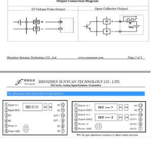 DIN постоянного тока в напряжение 0-20Ма/4-20 Ма/0-5V/0-10 V на 0-5Кгц/0-10 Кгц/изоляция Trasnmitter 1-5Кгц