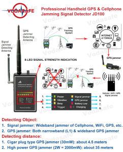Emittente di disturbo professionale del segnale di Displaybug Detectorwideband di immagine dello scanner della macchina fotografica del cellulare, WiFi, GPS,