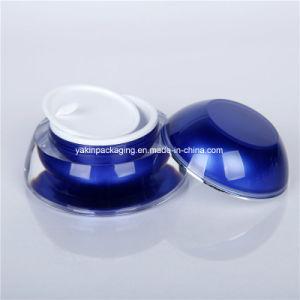 15mlスキンケアT2eyeのクリーム色の瓶のための青いアクリル夜修理クリームの瓶