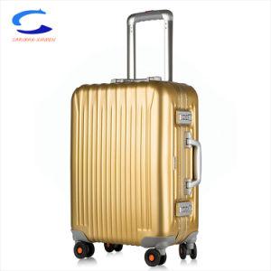 El Diseñador de 2018 20 de lujo súper durable de aluminio de color amarillo dorado Hardshell realizar Spinner de aleación Al-Mg telescópico de la maleta de viaje Trolley Candado Tsa equipaje